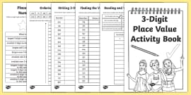 Back to School Place Value Revision 3 Digit Numbers Activity Booklet