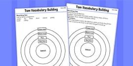 Tom's Midnight Garden Target Description Adjectives Worksheet