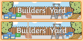 Builders Yard Role Play Banner