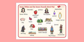Snow White and the Seven Dwarfs Word Mat