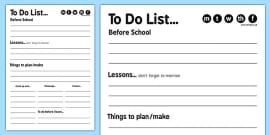 Daily Organisational To Do List
