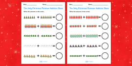 Up to 20 Addition Sheets to Support Teaching on The Jolly Christmas Postman