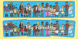 My Family Display Banner
