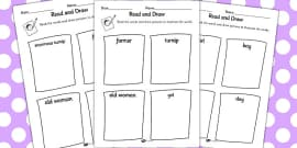 The Enormous Turnip Read and Draw Activity Sheet