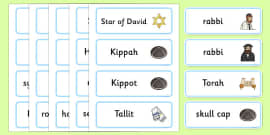 Judaism Word Cards
