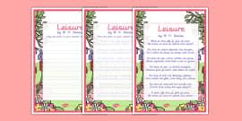 Leisure KS2 Handwriting poems