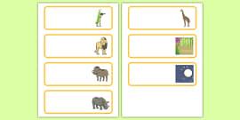 Dancing Giraffe Themed Editable Drawer Peg Name Labels