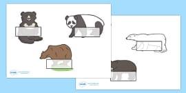 Editable Drawer - Peg - Name Labels (Bears)