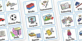 Childminding Home Visual Timetable Cards (Girls)
