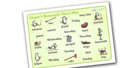 Word Mat to Support Teaching on Jasper's Beanstalk