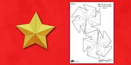 3D Star Paper Model