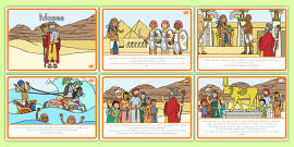 Moses Story Sequencing A4