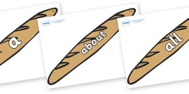 100 High Frequency Words on Baguettes