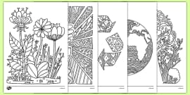 Earth Day Mindfulness Coloring Sheets