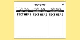 Editable KWL Grid