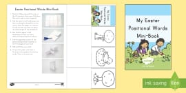 * NEW * Easter Positional Words Mini Book Activity