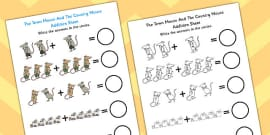 The Town Mouse And The Country Mouse Addition Sheet