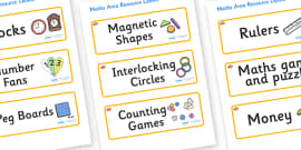 Clownfish Themed Editable Maths Area Resource Labels
