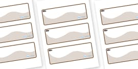 Mole Themed Editable Drawer-Peg-Name Labels (Colourful)