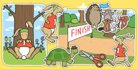 The Tortoise and The Hare Story Cut Outs