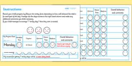 Home Behaviour Progress Chart