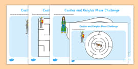 Castles and Knights Maze Activity Sheet