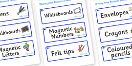 Whale Themed Editable Writing Area Resource Labels