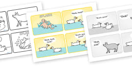 Story Sequencing (4 per A4) to Support Teaching on Pig in the Pond
