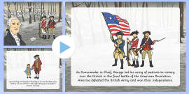 * NEW * The First American President Story PowerPoint