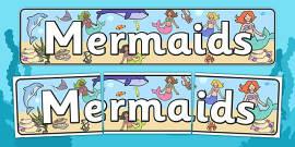 Mermaids Display Banner