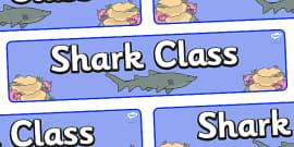 Shark Themed Classroom Display Banner