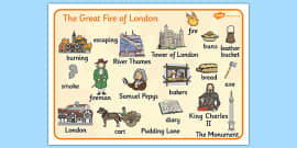The Great Fire of London Word Mat