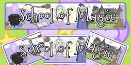 School of Magic Display Banner