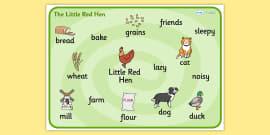 Little Red Hen Word Mat