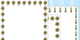 Sunflower Page Borders