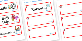 Ladybird Themed Editable Additional Resource Labels