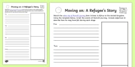Moving On: A Refugee Story Work Sheet