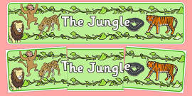 The Jungle Display Banner
