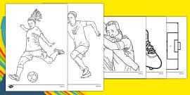 Rio 2016 Olympics Football Colouring Sheets