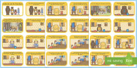 Goldilocks and the Three Bears Cut and Stick Story Sequencing Activity