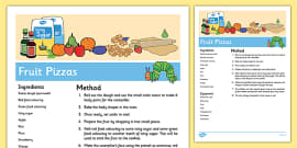 Fruit Pizzas Recipe to Support Teaching on The Very Hungry Caterpillar