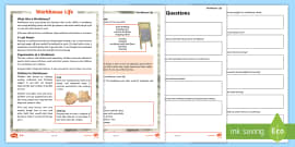 * NEW * KS2 Workhouse Life Differentiated Comprehension Go Respond Activity Sheets