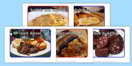 English Food Display Photos