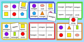 2D Shape Bingo Pack