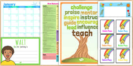 Class Management Teacher Folder Complete Resource Pack