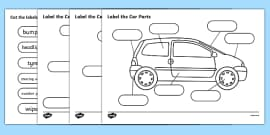 Label The Car Parts