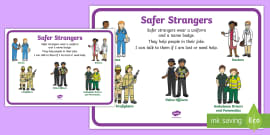Safer Strangers Display Poster