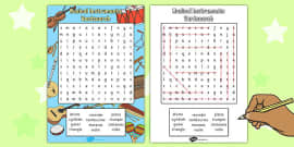 Musical Instrument Wordsearch