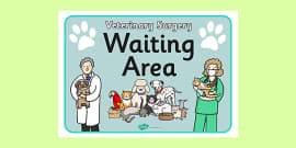 Vets Surgery Waiting Area Sign