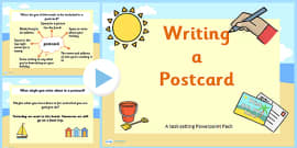 How to Write a Postcard Differentiated Lesson Teaching PowerPoint